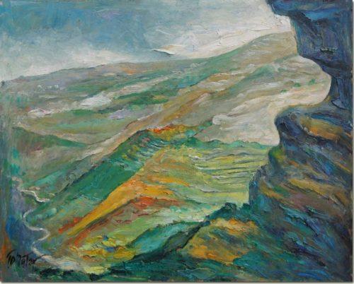 View from Megara - Vue de Megara - Akoura