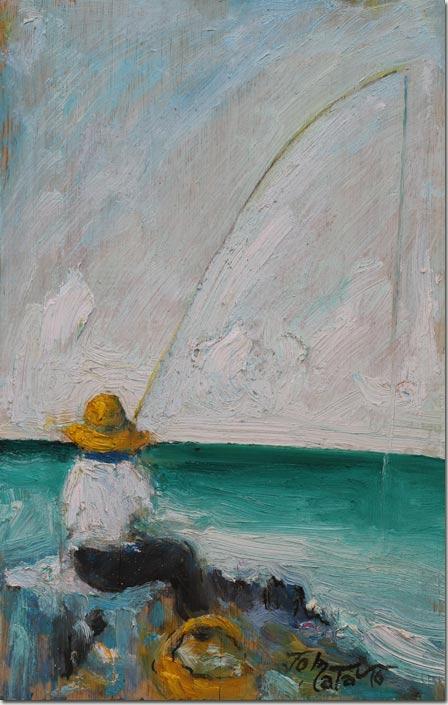 Fisherman and Line - Pêcheur à la Ligne