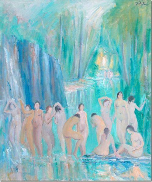 Lebanon art - Bathers - Baigneuses