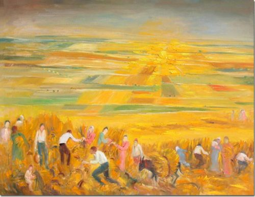 Painting Harvest - Peinture Moisson