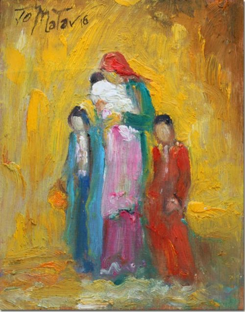 Mother and children - Mère et Enfants