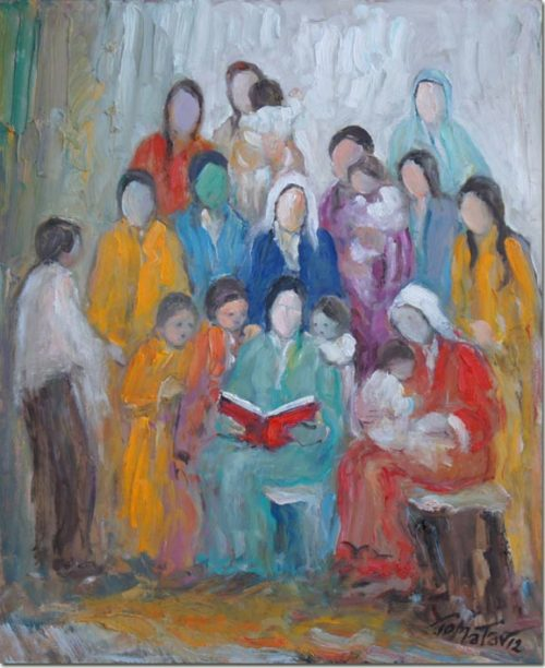 Lebanon Art painting - Reading - Lecture
