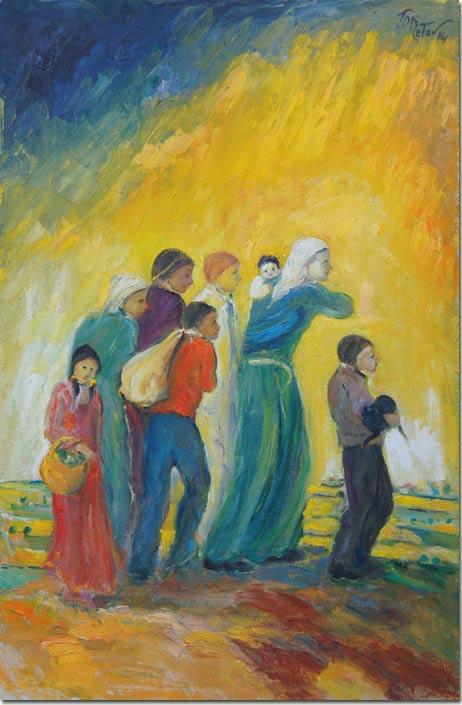 Art Refugee Family - Famille de Refugiés