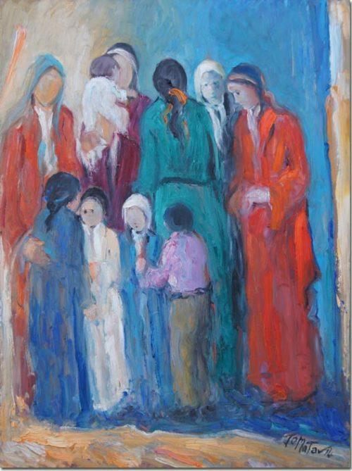 Lebanon art painting - Dialogue - Peinture