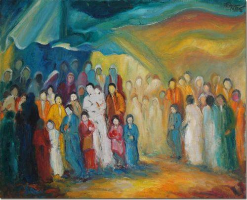Lebanon art painting - Emigrants - Peinture