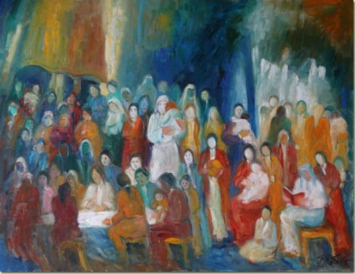 Lebanon art painting - Shelter - Abri