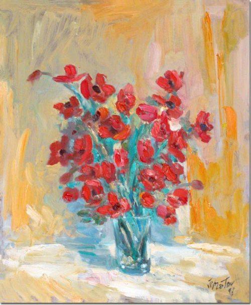 Painting Anemones - Peinture Anémones
