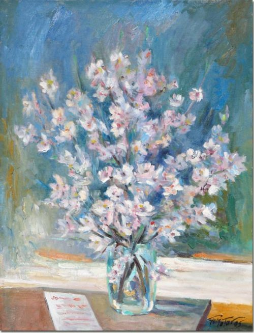 Painting White Flowers - Peinture Fleurs Blanches