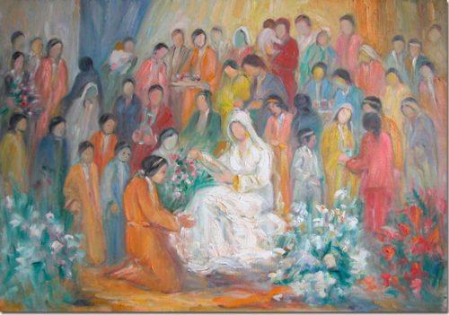 Preparing the Bride - Préparation de la Mariée