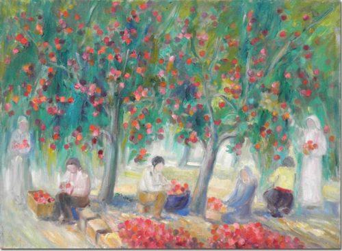 Gathering Apples - Ceuillette de pommes