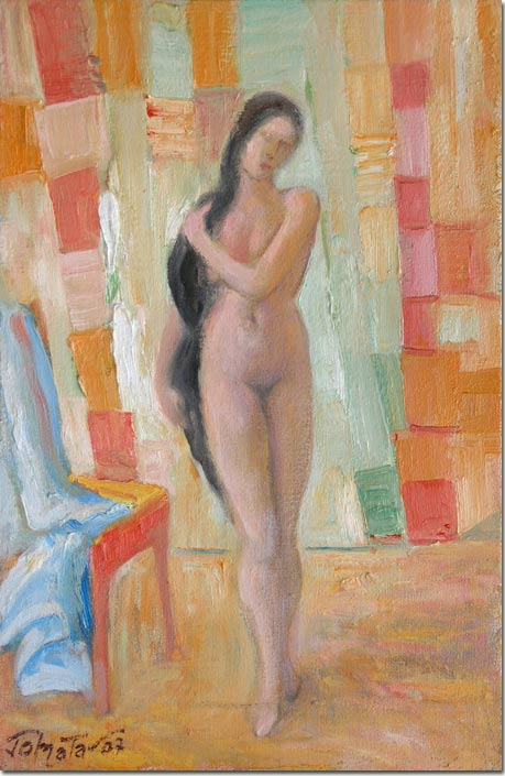 Lebanon art painting, peinture - Flore