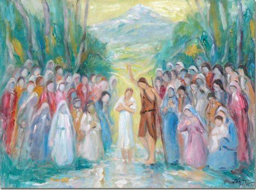 Baptism in the Jordan - Baptême sur le Jourdain