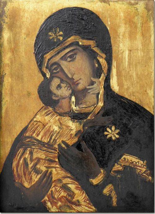 The Virgin Mary and Jesus (Icon) - La Vierge Marie et Jésus (Icône)
