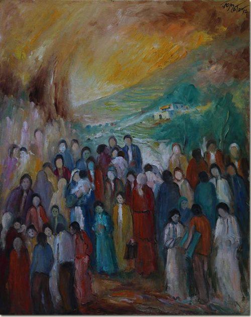 Lebanon art painting - Nostalgia - Nostalgie