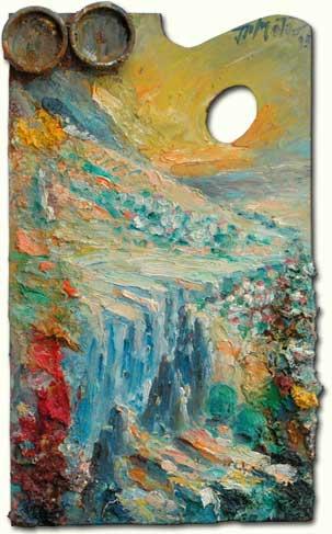 Cliff in Qadisha - Falaise à Qadicha