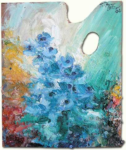 Blue Anemones at Mayrouba - Anémones bleues de Mayrouba