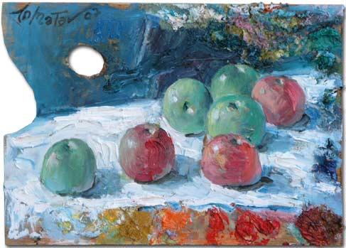 Apples Still Life - Nature Morte aux Pommes