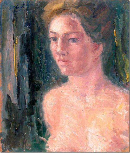Art portrait painting Zeina