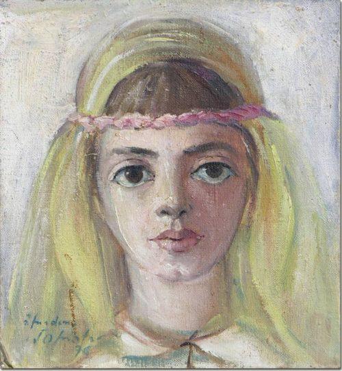 Portrait painting Madonna