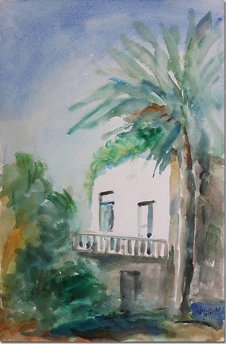 Under the palm tree - Sous le palmier