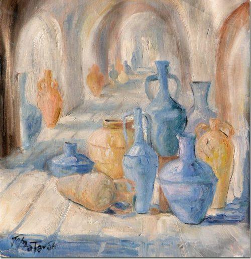 Blue Amphoras - Urnes Bleues