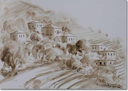 Village - Sépia