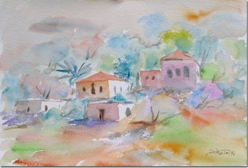 Rose Colored Houses - Les maisons roses