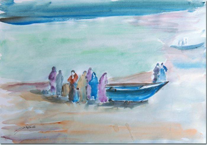 Fishermen at Byblos - Pêcheurs à Byblos